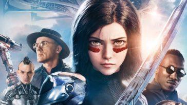 Alita Battle Angel Cast Poster. 20th Century Fox