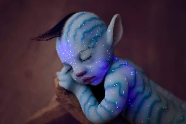 BabyClon - Silicon Avatar Baby Na'vi Doll