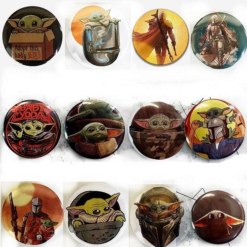 Baby Yoda Buttons Mandalorian