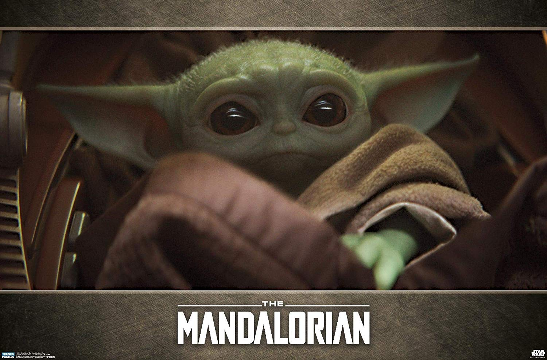 Mandalorian Baby Yoda Poster